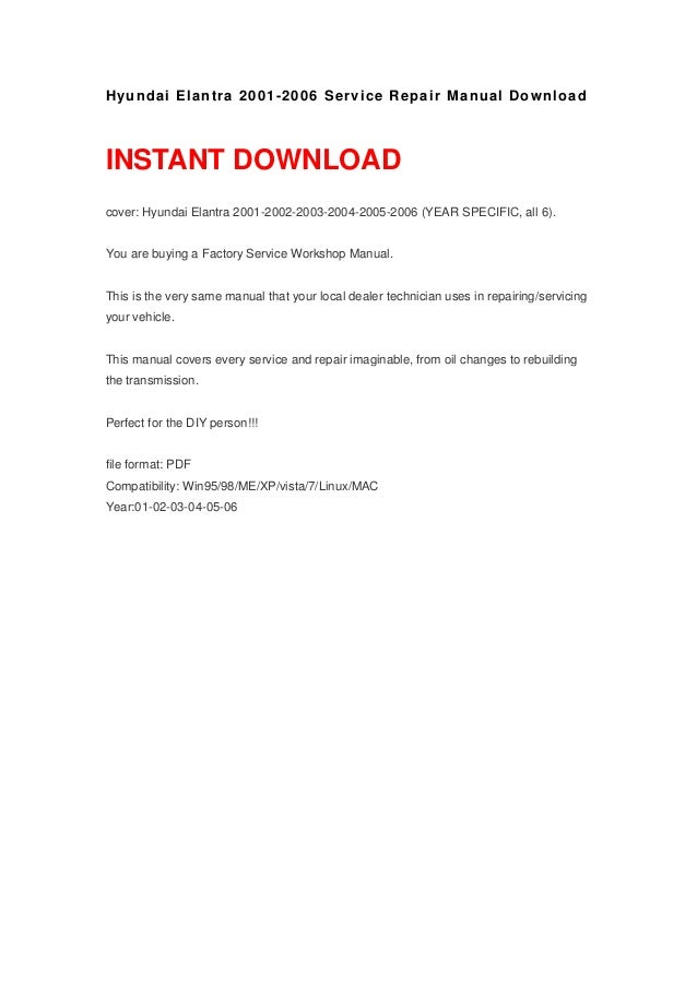 2008 hyundai elantra repair manual free