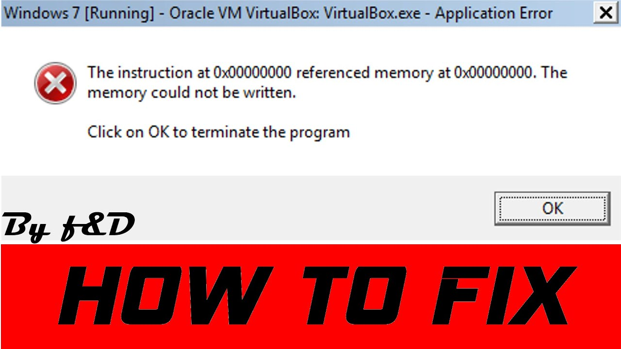 The instruction at referenced memory at could not be read