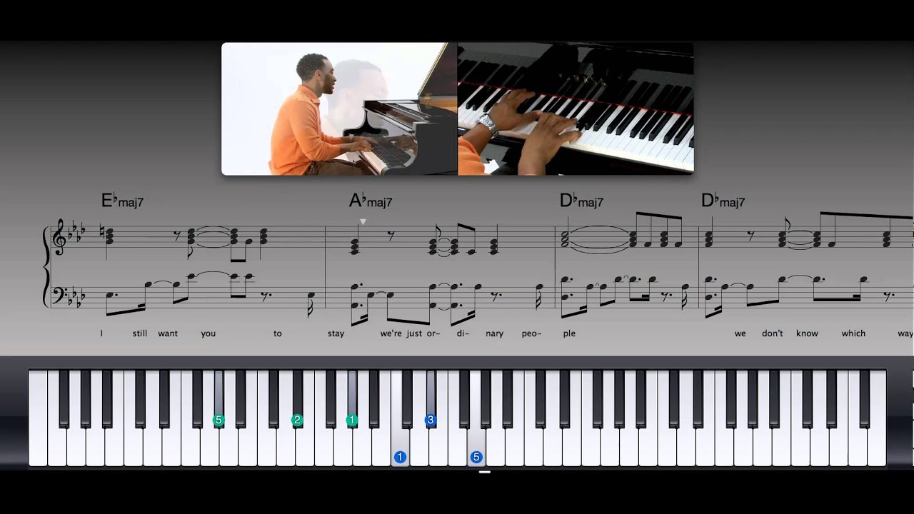 Ordinary people pdf piano music