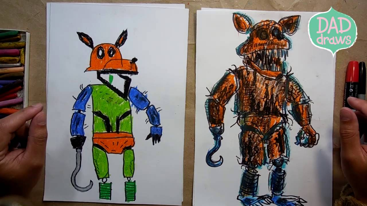 Fnaf characters how to draw