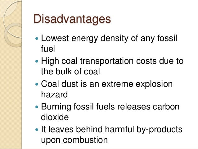 Coal advantages and disadvantages pdf