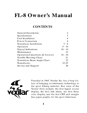 Vexilar fl-8 slt owners manual
